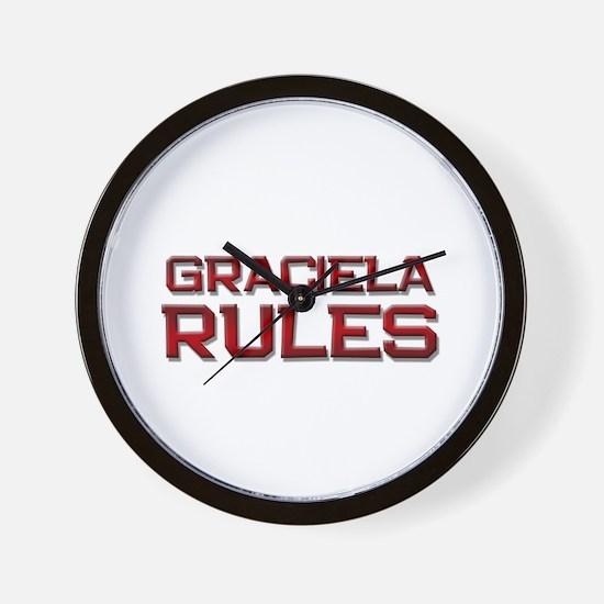 graciela rules Wall Clock