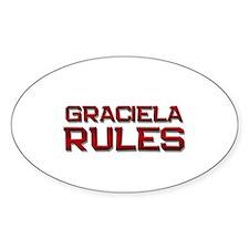 graciela rules Oval Decal