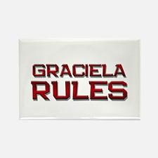 graciela rules Rectangle Magnet