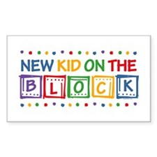 New Kid on the Block Rectangle Decal