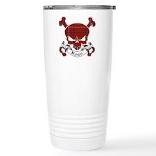 Rose Tartan Skull Travel Mug