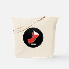 Flag Map of Oman Tote Bag