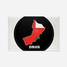 Flag Map of Oman Rectangle Magnet