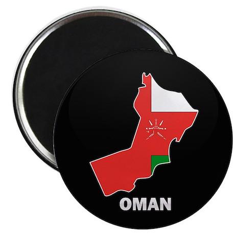 Flag Map of Oman Magnet