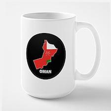Flag Map of Oman Mug