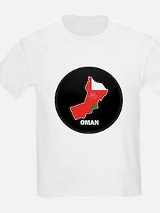Flag Map of Oman T-Shirt
