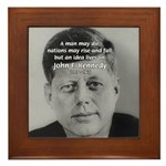 Power of the Idea JFK Framed Tile