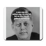 Power of the Idea JFK Mousepad