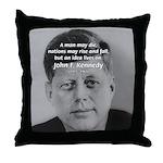 Power of the Idea JFK Throw Pillow