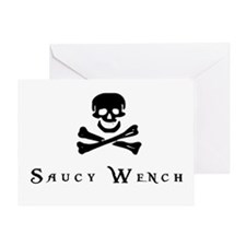 Saucy Wench Greeting Card