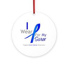Colon Cancer Sister Ornament (Round)