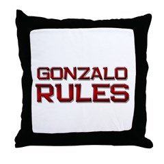 gonzalo rules Throw Pillow