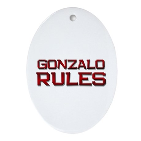 gonzalo rules Oval Ornament