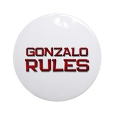 gonzalo rules Ornament (Round)