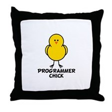 Programmer Chick Throw Pillow