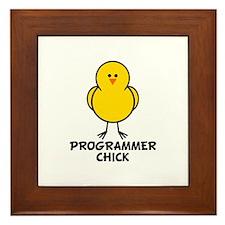 Programmer Chick Framed Tile