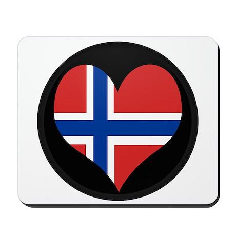 I love Norway Flag Mousepad