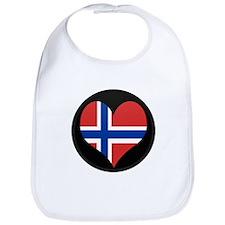 I love Norway Flag Bib