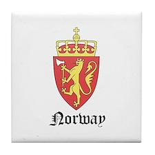 Norwegian Coat of Arms Seal Tile Coaster