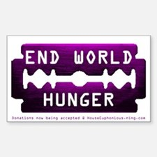 World Hunger Rectangle Decal