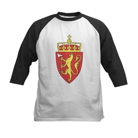 Norway Coat of Arms Kids Baseball Jersey
