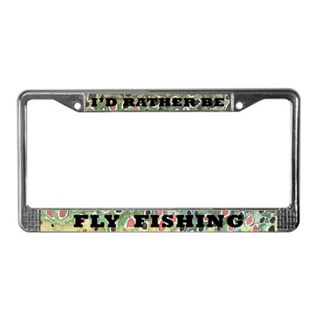Brown trout fly fishing license plate frame by troutwhiskers for Florida temporary fishing license
