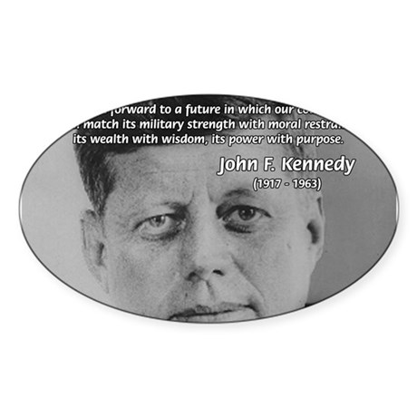 American Politics JFK Oval Sticker