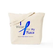 Colon Cancer Niece Tote Bag