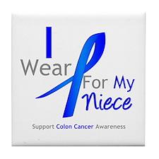 Colon Cancer Niece Tile Coaster