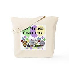 Zoo 1st Birthday Tote Bag