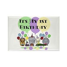 Zoo 1st Birthday Rectangle Magnet