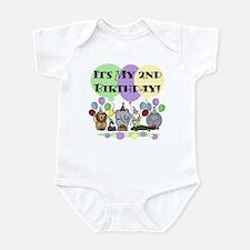 Zoo 2nd Birthday Infant Bodysuit