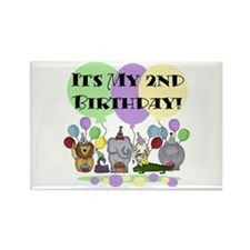 Zoo 2nd Birthday Rectangle Magnet
