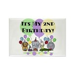 Zoo 2nd Birthday Rectangle Magnet (10 pack)
