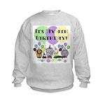 Zoo 4th Birthday Kids Sweatshirt