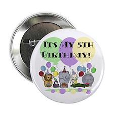 "Zoo 5th Birthday 2.25"" Button"
