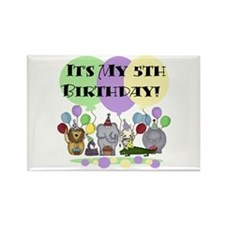 Zoo 5th Birthday Rectangle Magnet