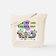 Zoo 5th Birthday Tote Bag