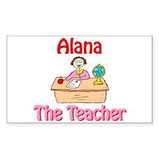 Alana the Teacher Rectangle Decal