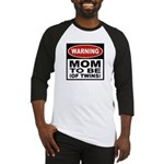 Mom To Be Twins Baseball Jersey
