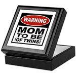 Mom To Be Twins Keepsake Box