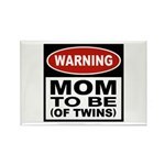 Mom To Be Twins Rectangle Magnet