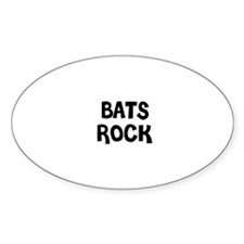 BATS ROCK Oval Decal
