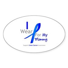 Colon Cancer Mommy Oval Decal