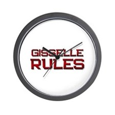 gisselle rules Wall Clock