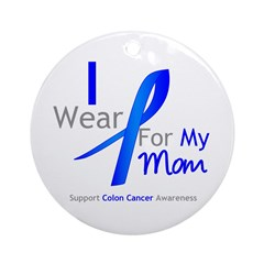 Colon Cancer Mom Ornament (Round)