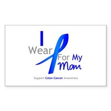 Colon Cancer Mom Rectangle Decal