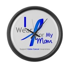 Colon Cancer Mom Large Wall Clock