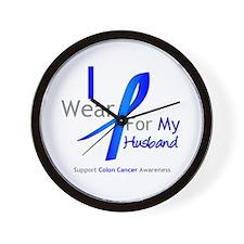 Colon Cancer Husband Wall Clock