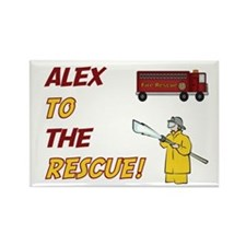 Alex to the Rescue Rectangle Magnet